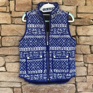 NWT J. CREW FAIR ISLE EXCURSION VEST PS ❄️